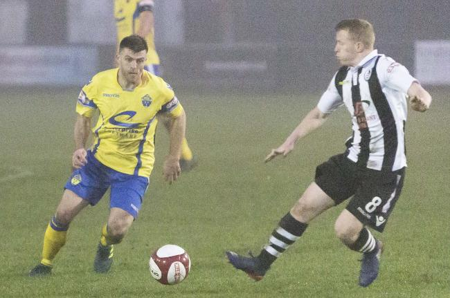 Steve Jennings is on loan at Warrington Town from Southport. Picture by John Hopkins