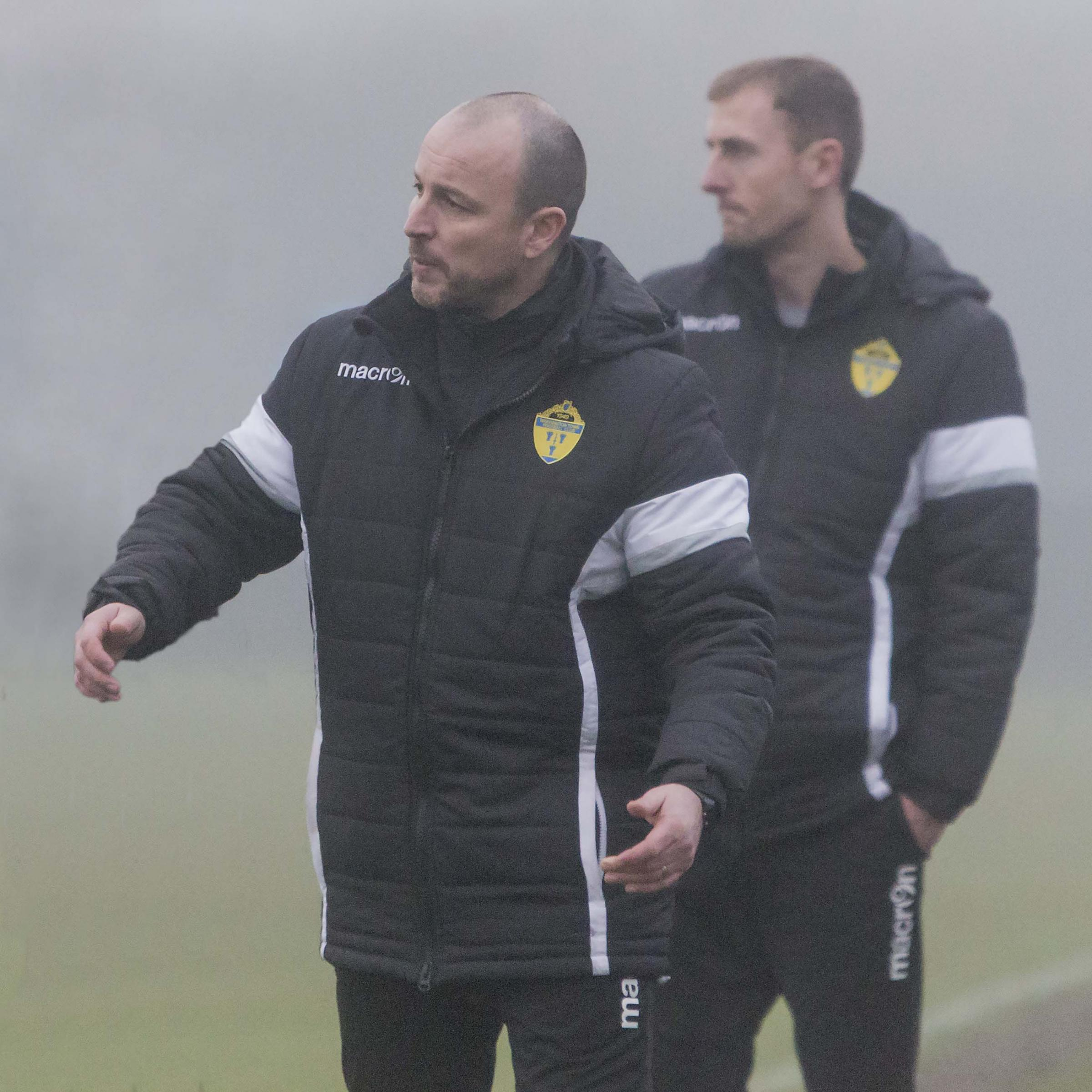 Yellows boss Paul Carden with assistant Mark Beesley. Picture by John Hopkins