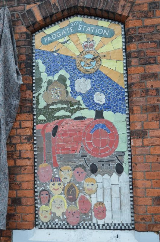 A new mosaic has been unveiled at Padgate Station.