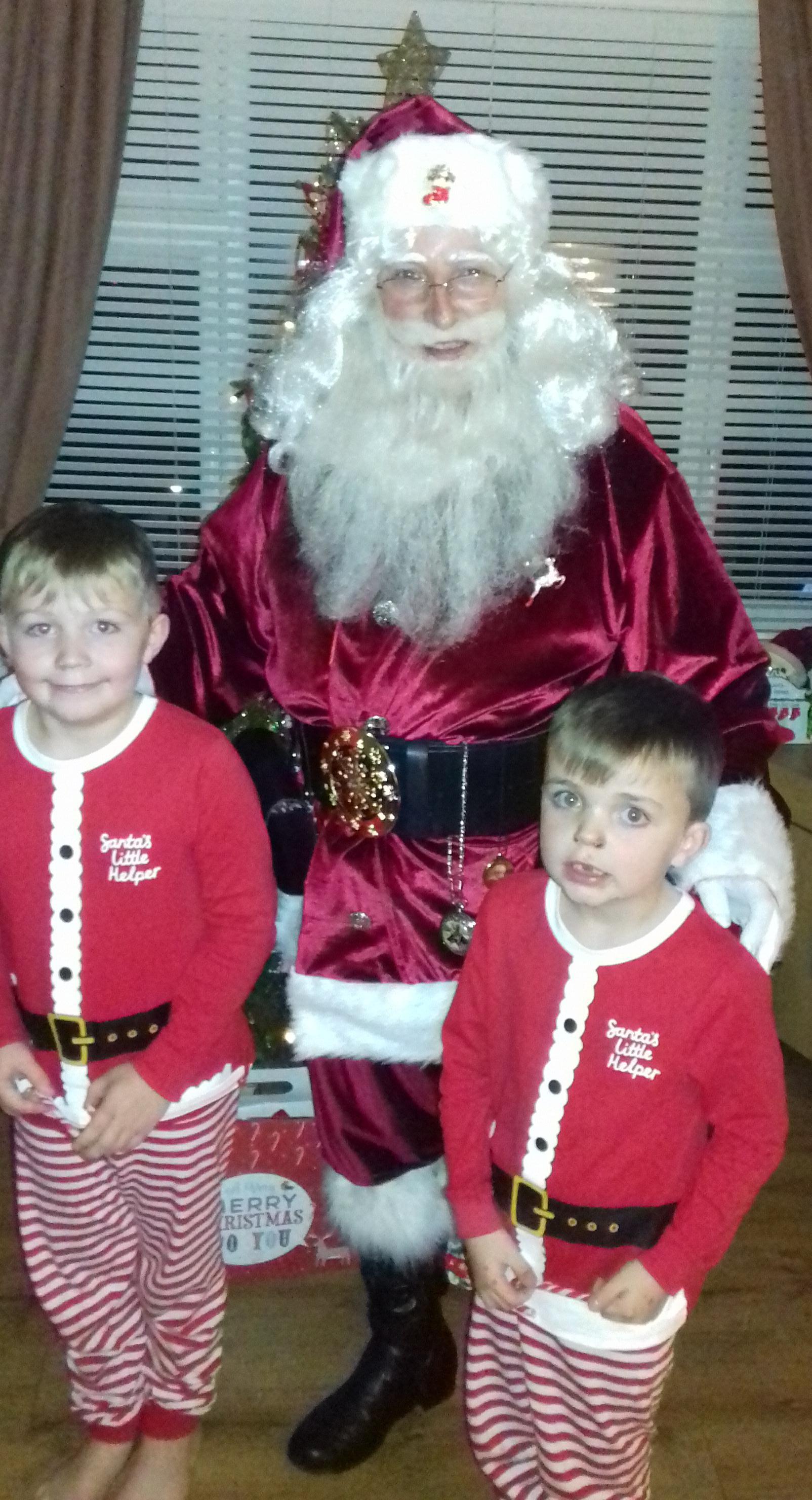 Jack and George Gallop are paid a special visit by Father Christmas.