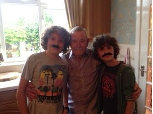 Keith Taylor with his grandsons