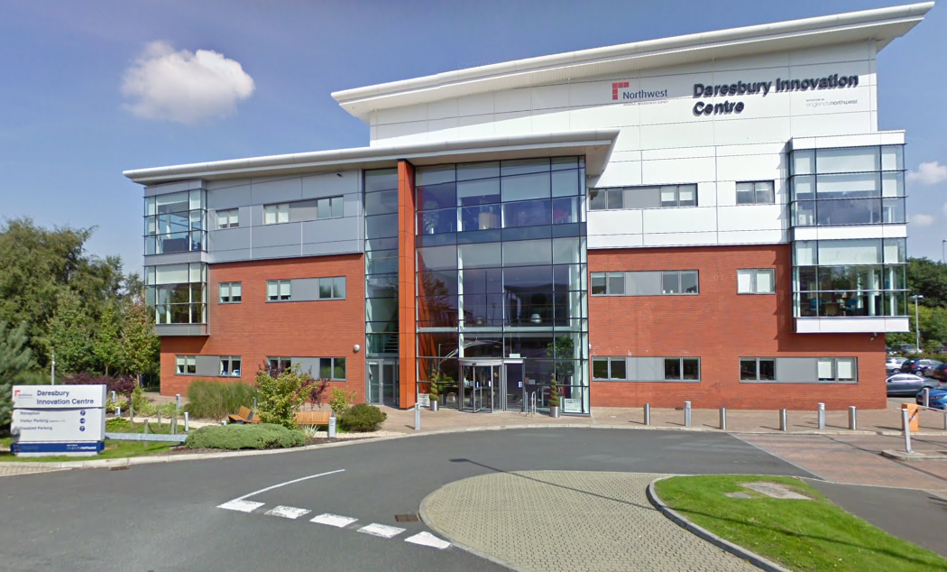 Arcis Biotechnology, which is based at the Daresbury Innovation Centre, could launch a 'revolutionary' urine test for prostate cancer within a year. Picture by Google Maps.