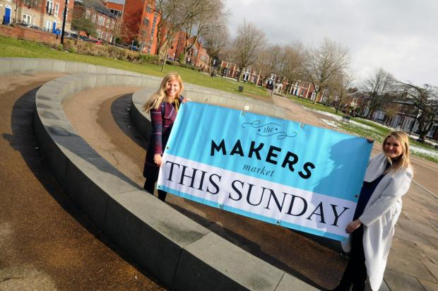 Warrington Guardian: Victoria Jackson and Lisa Baldwin run the Makers' Market. The first Warrington event is on March 11