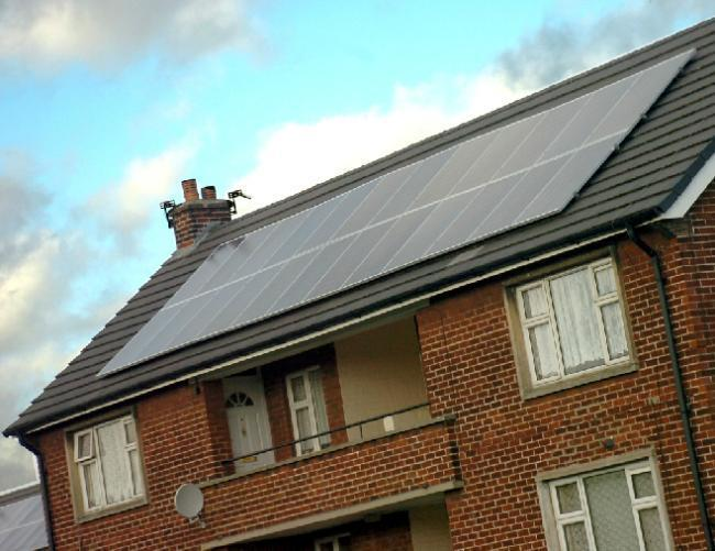 Solar panels have been used on some homes in the town