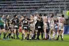 Several scuffles broke out during The Wire's win over Catalans Dragons on Saturday. Picture by Mike Boden