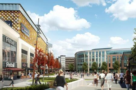 Warrington Guardian: An artist's impression of how the town centre could look after the Time Square project is completed