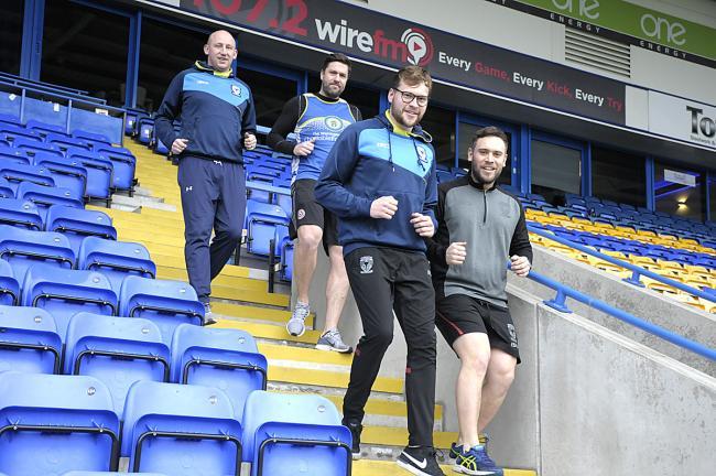 de25ea8ba00 Shaun Briscoe, Craig Thomason, Will Maudsley and Peter Hanlon from the Warrington  Wolves Charitable