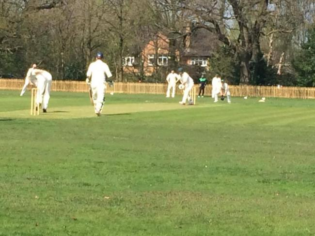 Appleton opener Bob McDonald plays watchfully forward during an opening stand of 77 against Christleton