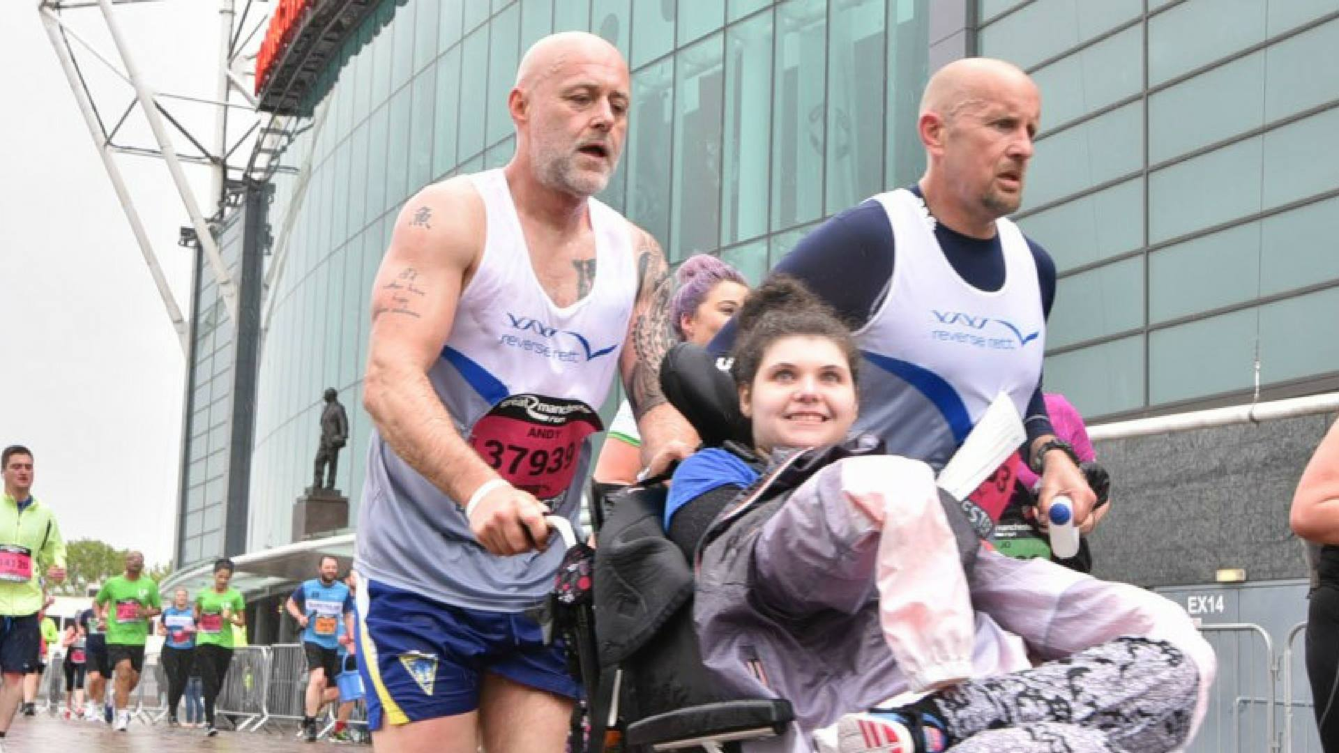 Andy Stevenson and Gary Chambers take on the Great Manchester Run 10k with Andy's daughter Amber.