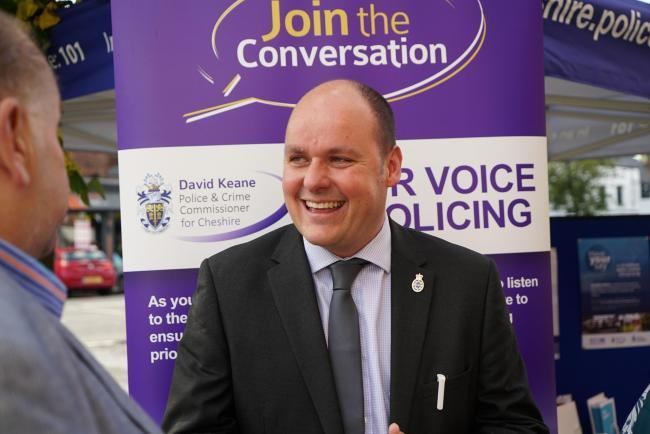 Cheshire's police and crime commissioner David Keane