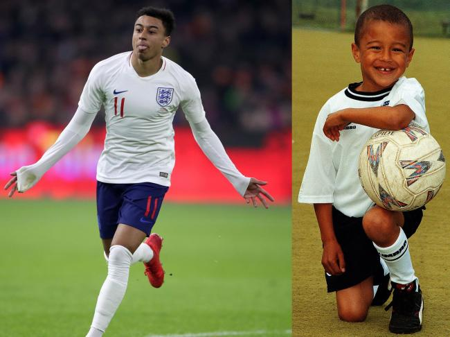 brand new 18bdd 466cb Manchester United's Jesse Lingard named in England's 2018 ...