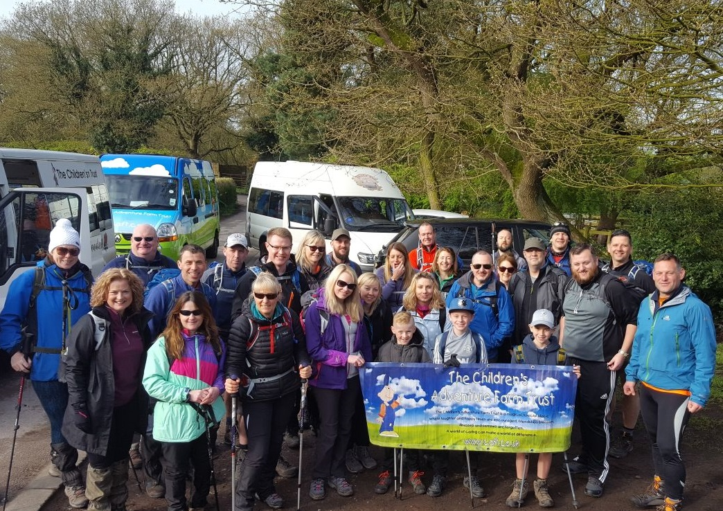 Employees of Fearnhead-based IT company Datel Group were among those who walked 34 miles to raise funds for the Children's Adventure Farm Trust.