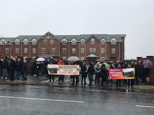 Residents mounted a protest to try and save the former Lilycross Care home