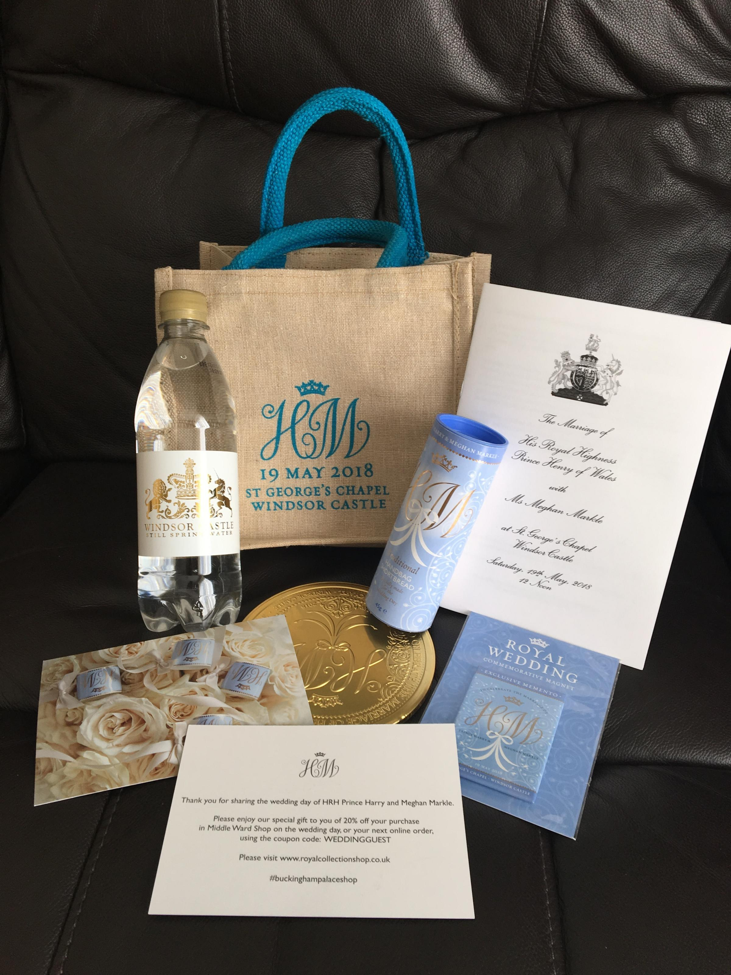 The goodie bag given to wedding guests