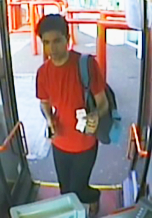 Police have released this CCTV image of a man they wish to speak to in connection to the sexual assault of a 15-year-old girl on a bus in Warrington.
