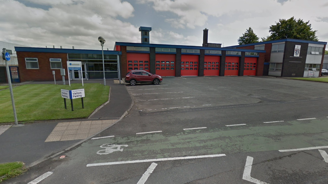 A 'mock' terraced house will be built at Warrington Fire Station and used as a training facility. Picture by Google Maps.