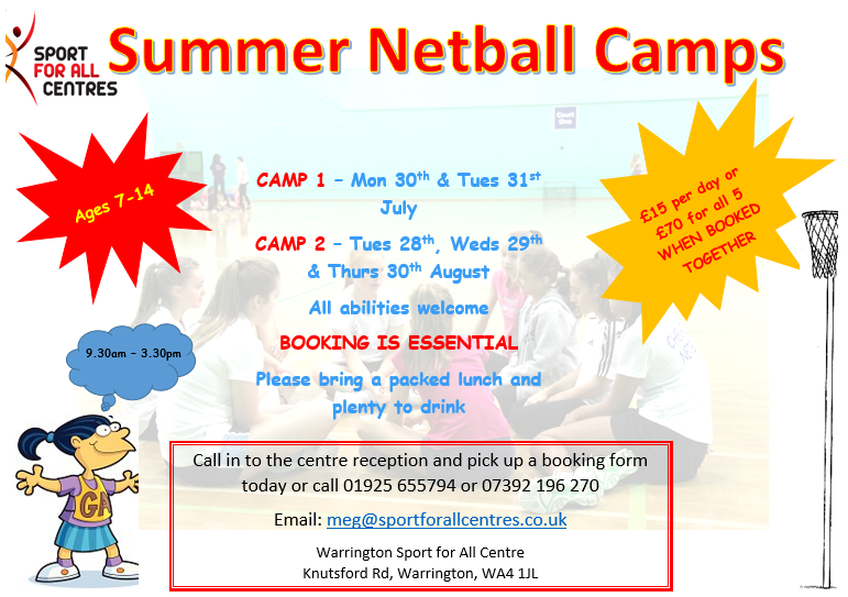 Summer Junior Netball Camps