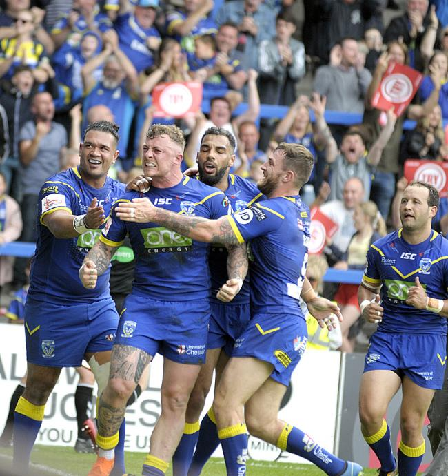 Warrington Wolves v Wigan Warriors. Pictures by Mike Boden