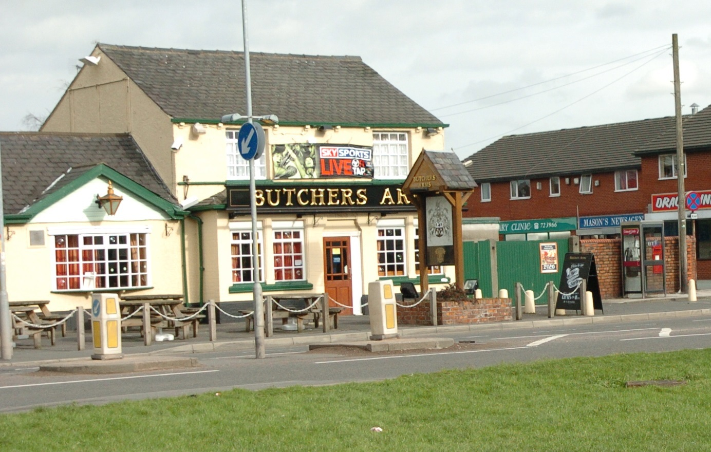 The Butchers Arms is one of four Greene King pubs in Warrington giving away free pints of beer during the World Cup.