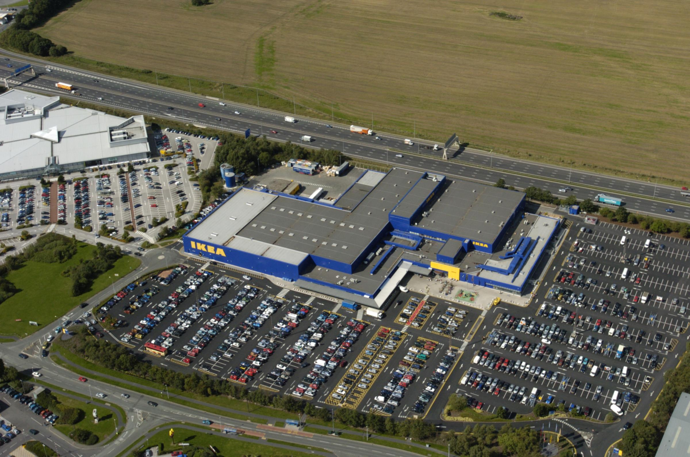 Ikea Warrington was evacuated this morning following a gas leak.
