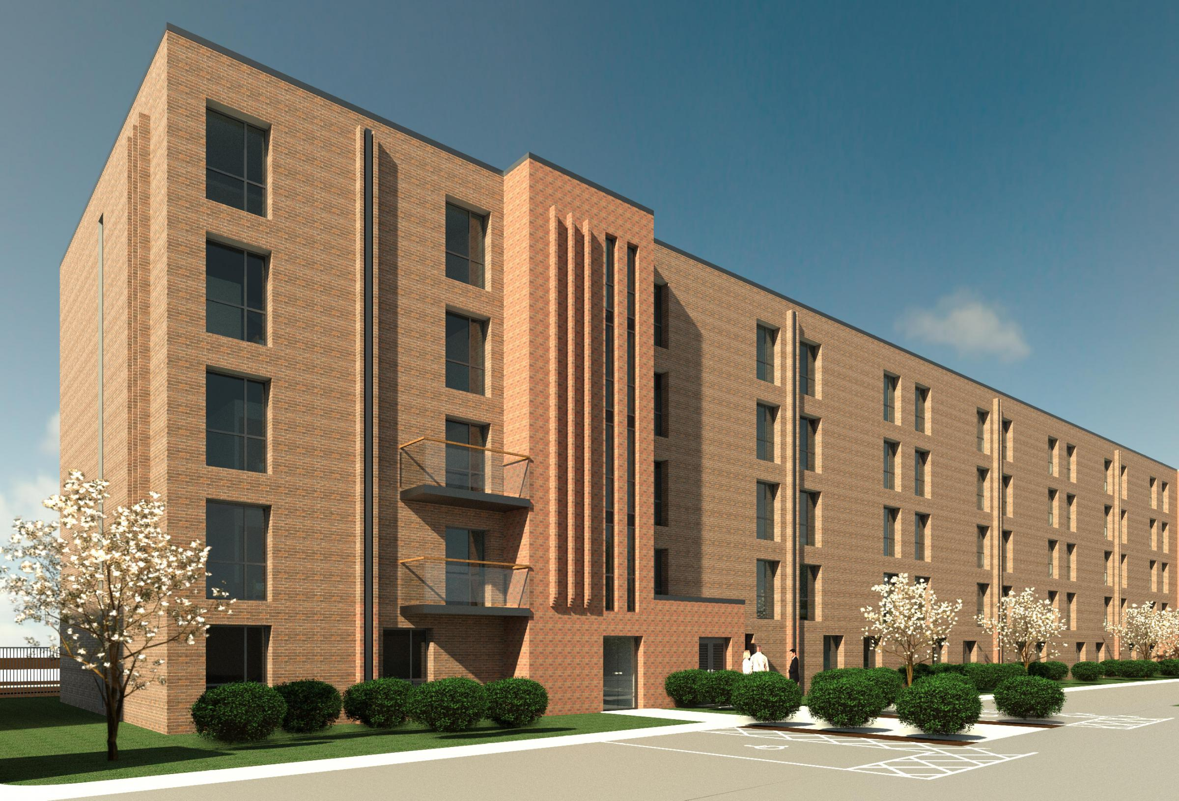 How the 189-apartment development on Station Road in Latchford could look.