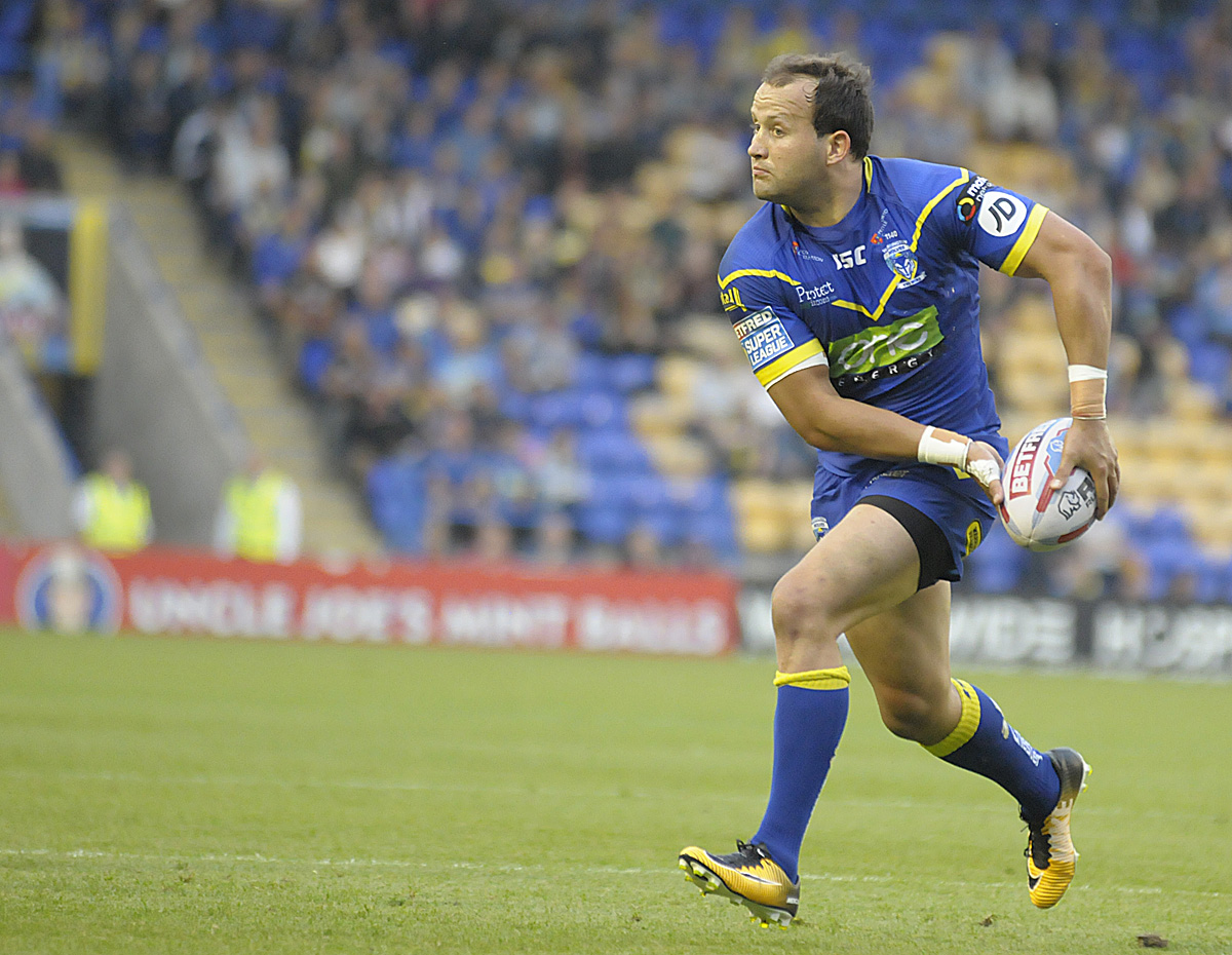 Tyrone Roberts, one of five in contention to return to the Wire side against St Helens on Saturday. Picture: Mike Boden