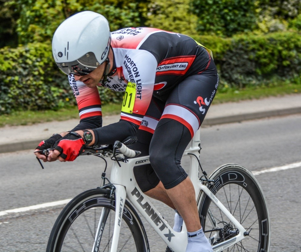 Steve Hankey in action at the Harry Baker Memorial 50-mile time trial. Picture by Ellen Isherwood