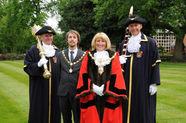 Mayor Cllr Karen Mundry will be supported by her son and consort Jason in her mayoral year