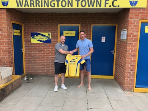 Richard Brodie with Yellows manager Paul Carden
