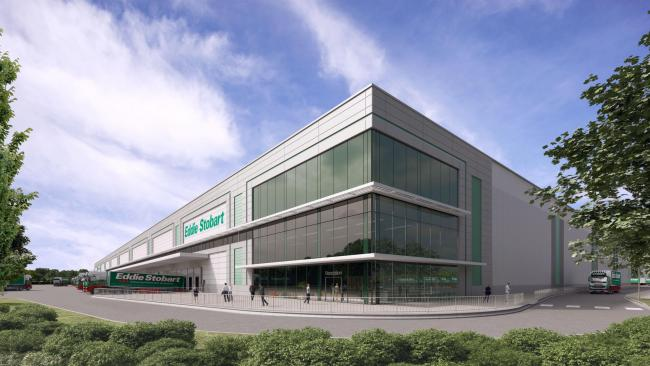 How the new £75m Eddie Stobart warehouse at Stretton Green Distribution Park in Appleton could look.