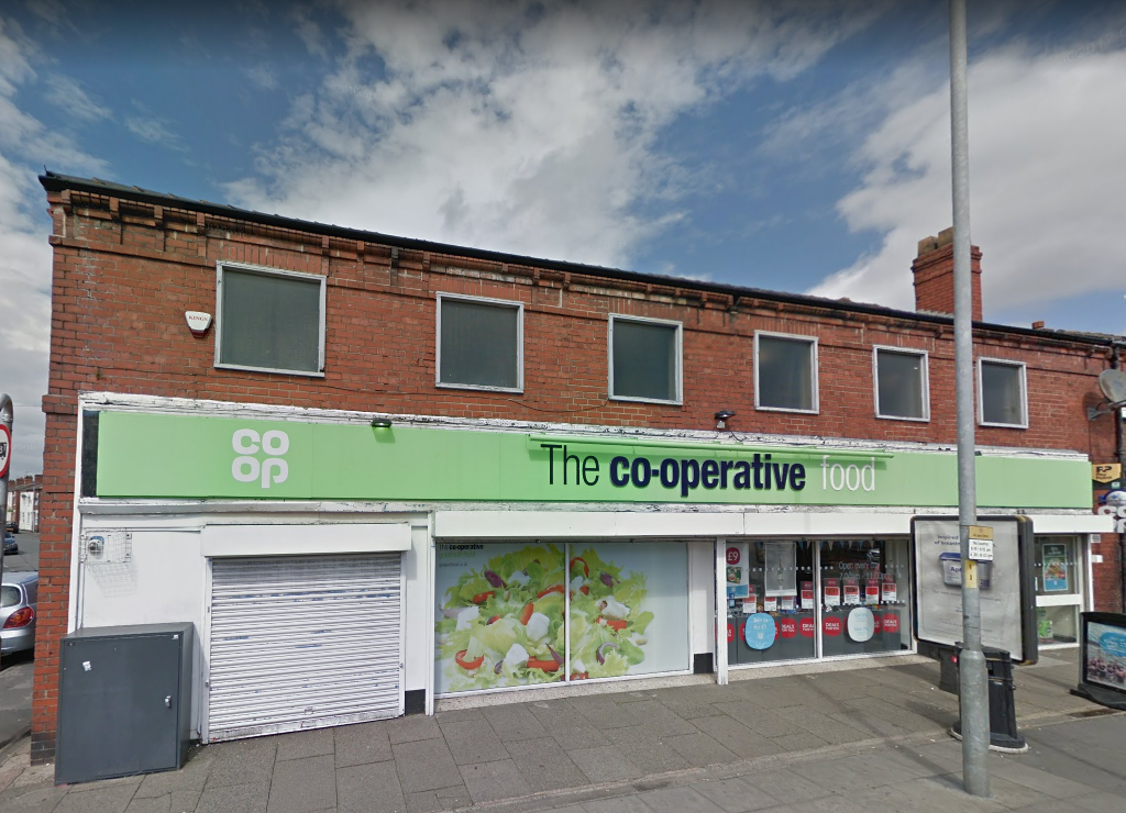 The 14-year-old boy robbed to Co-op on Orford Lane armed with a knife and hammer. Picture by Google Maps.