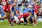 Close but no try for Ben Westwood against Salford Red Devils on Friday. Picture by Mike Boden