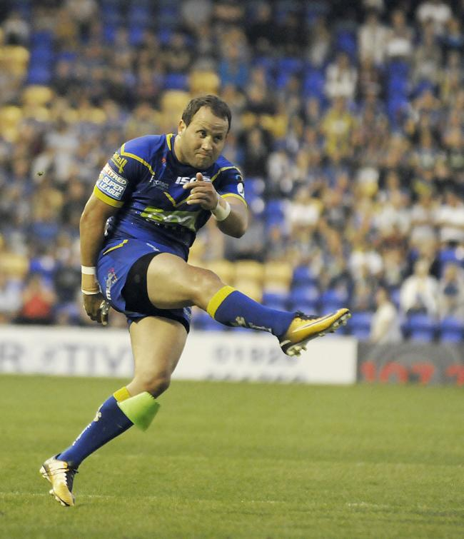 Tyrone Roberts kicked his first goals in a Wire shirt against Catalans. Picture by Mike Boden