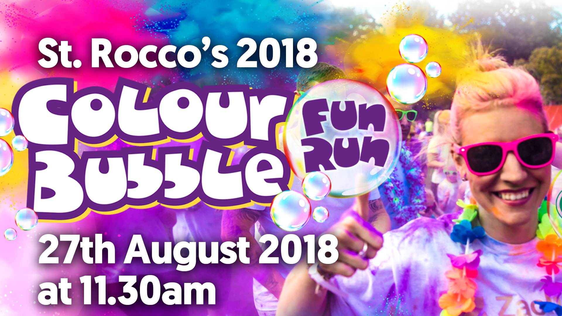 St Roccos Colour Bubble Fun Run