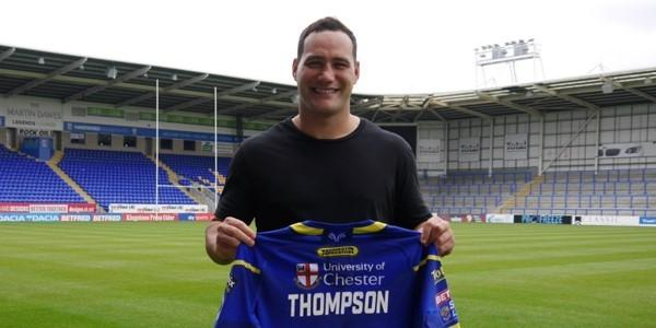 Bodene Thompson. Picture by Warrington Wolves