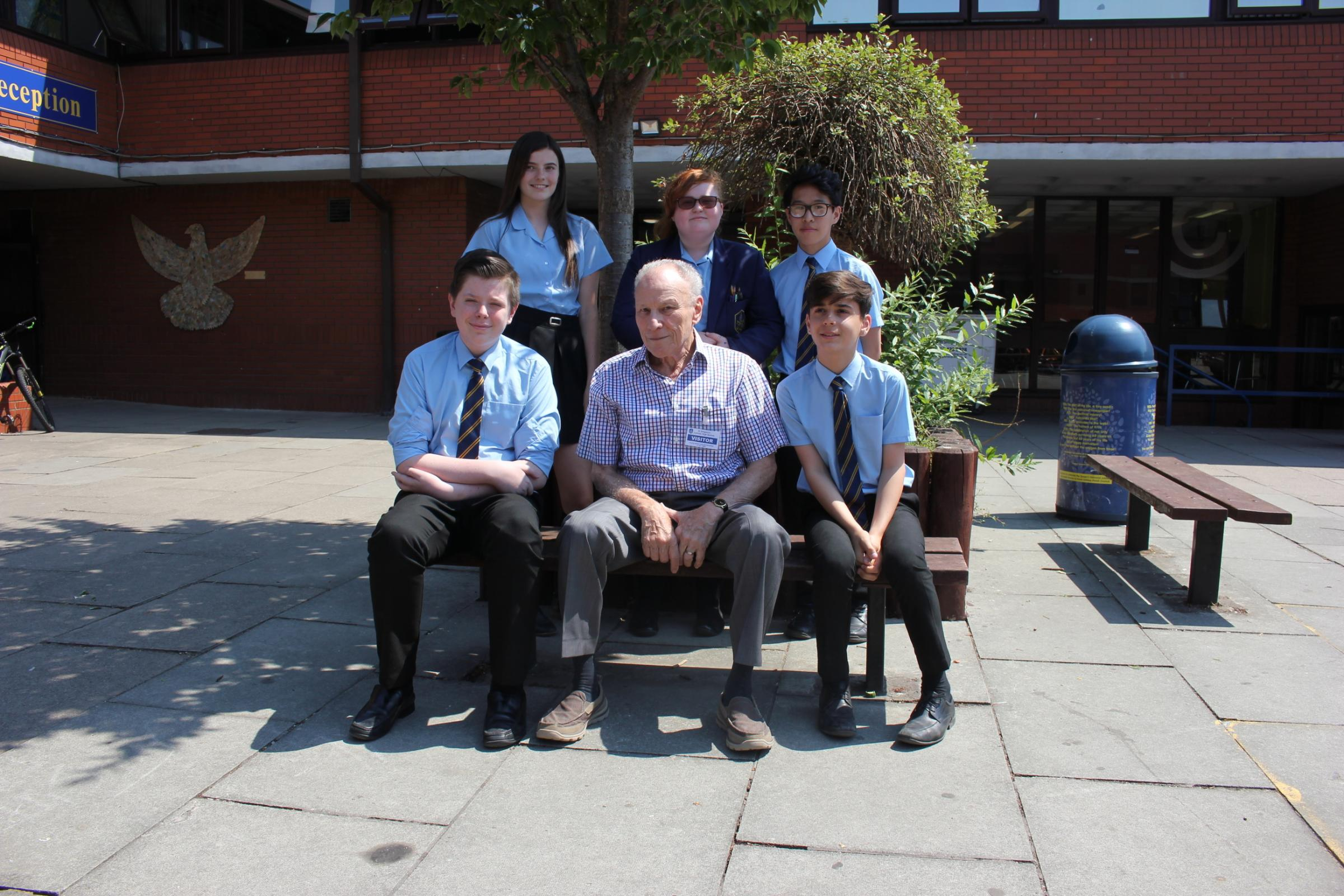 Holocaust survivor visits St Gregory's High School to share his  heart-wrenching journey