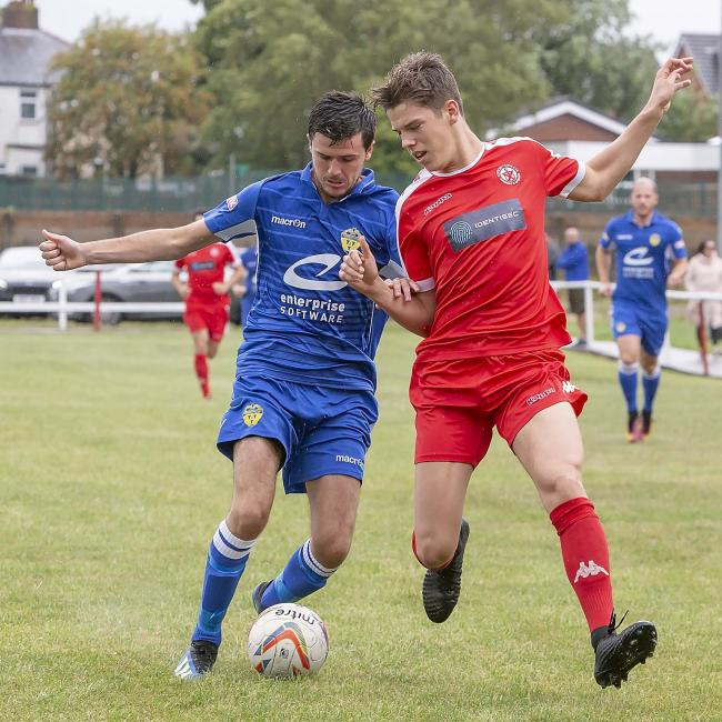 Jamie McDonald played in Town's 1-1 friendly draw with Ashton Town on Saturday. Picture by John Hopkins