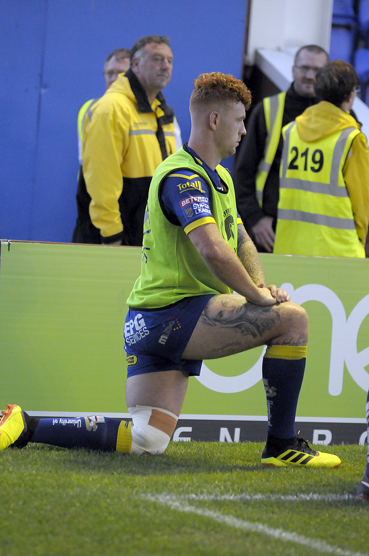 Harvey Livett came off injured during The Wire's win over Catalans. Picture by Mike Boden