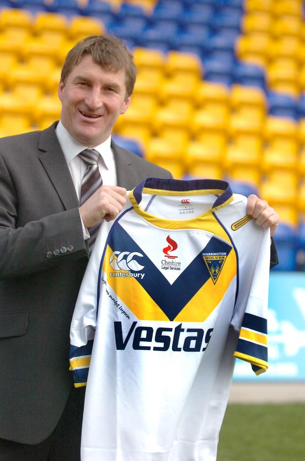 Warrington Guardian: Tony Smith is unveiled as Wolves' new head of coaching and rugby.