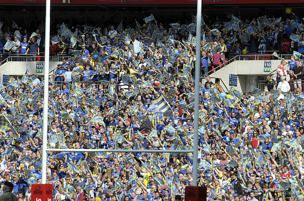 Five of the past 10 Challenge Cup Finals have seen Warrington Wolves fans flock to Wembley to watch their team. Picture by Mike Boden