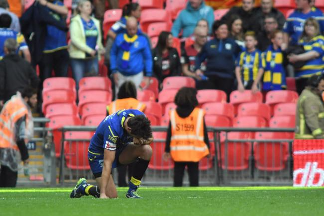 Stefan Ratchford after the final hooter at Wembley. Picture: Mike Boden