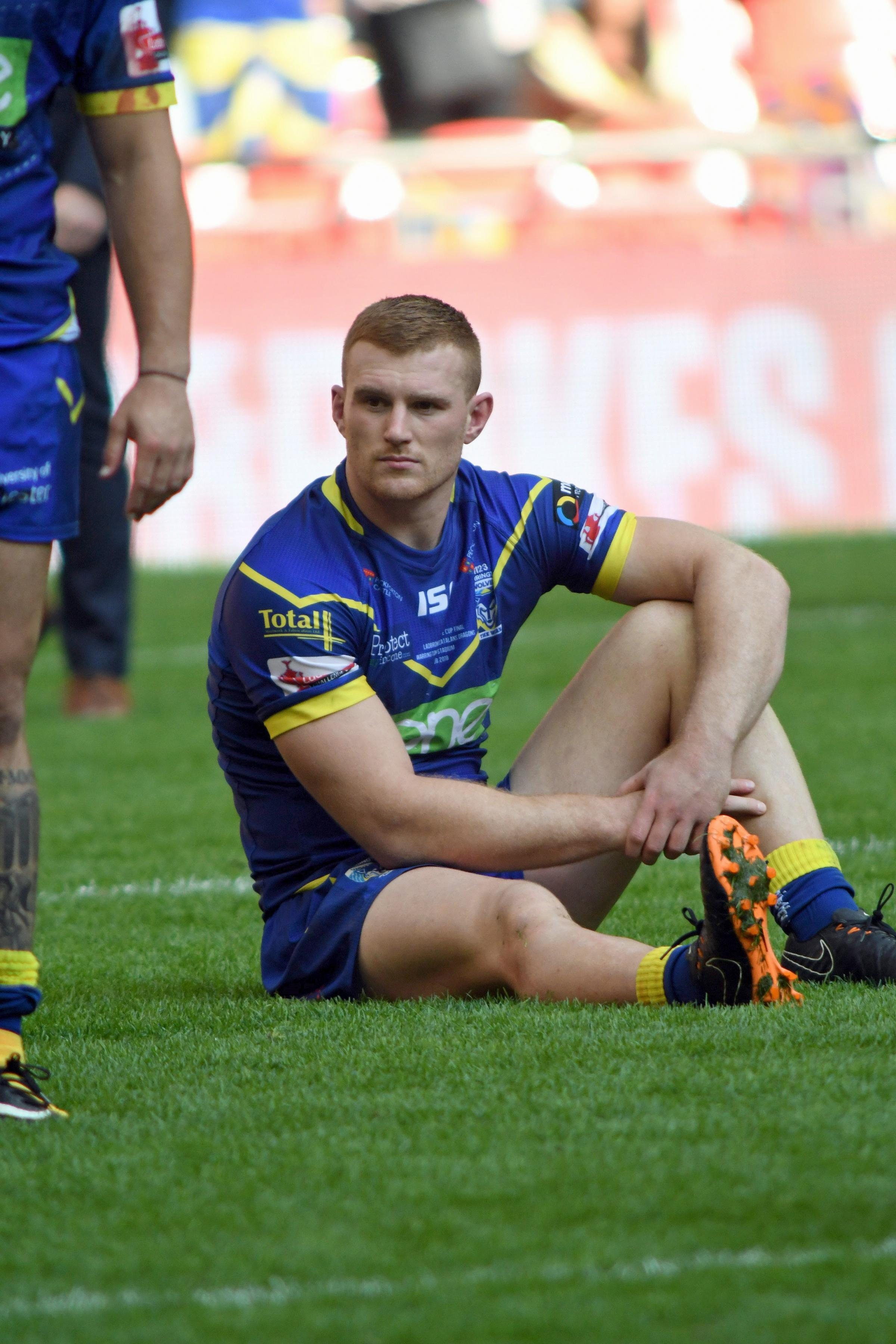 Jack Hughes sits crestfallen after Saturday's Wembley defeat. Picture: Dave Gillespie