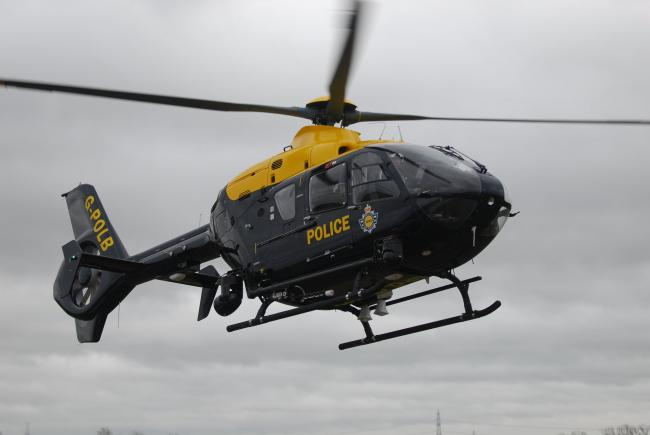 The police helicopter assisted with the pursuit on the M6.