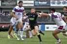 Daryl Clark in action during The Wire's 32-30 win at Wakefield in June. Picture by Bob Brough/Warrington Wolves
