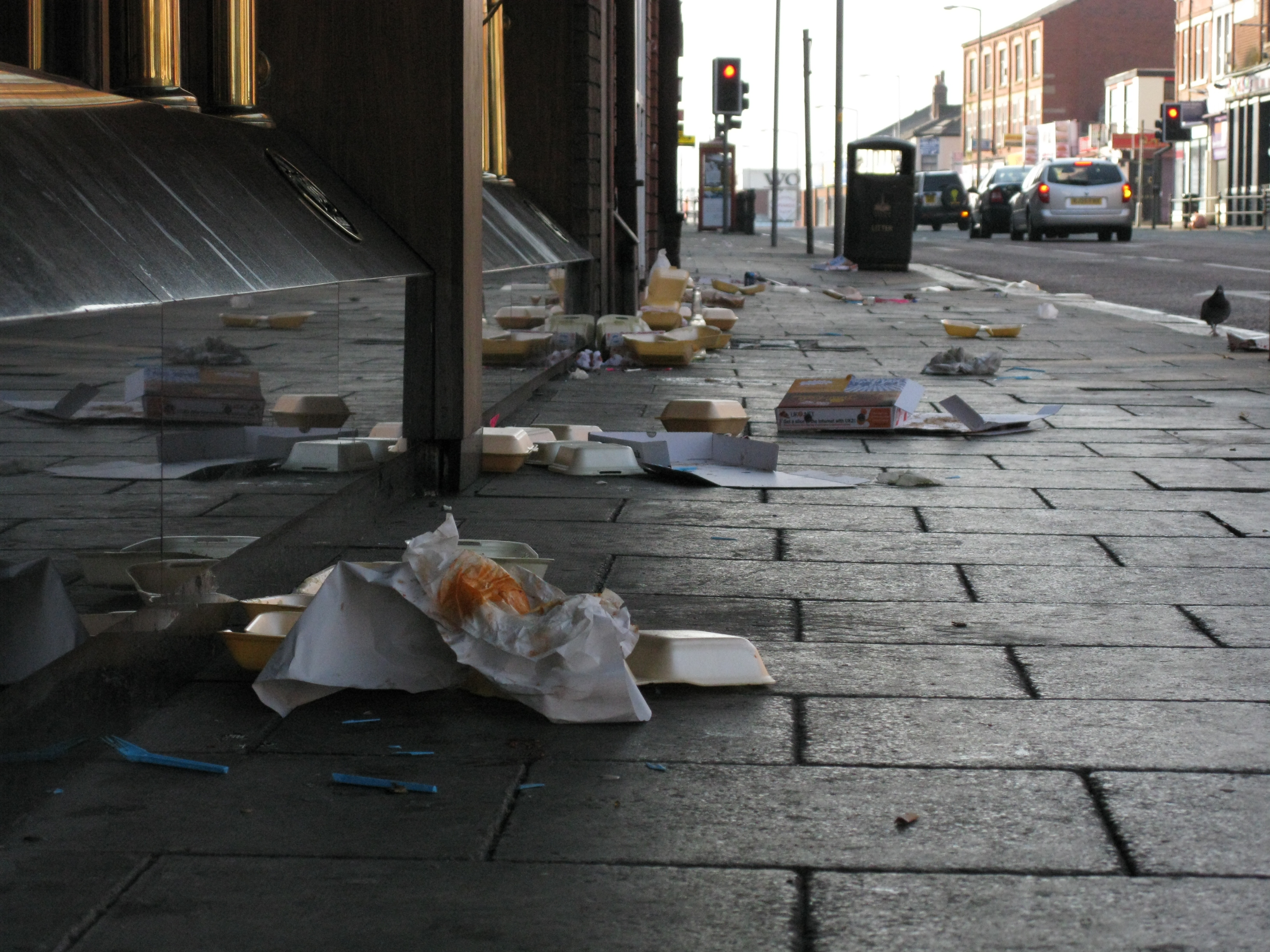 A vigilante street cleaner has helped to track down a litterbug through a recipt left in his discarded takeaway bag. File photo.