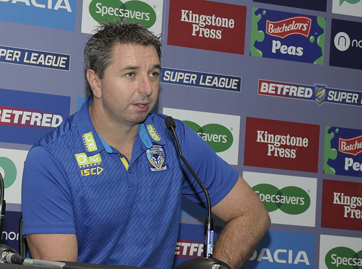 Steve Price at Monday's Super League Grand Final media day. Picture by Mike Boden