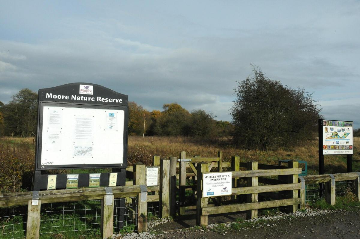 The site is adjacent to the entrance of Moore Nature Reserve