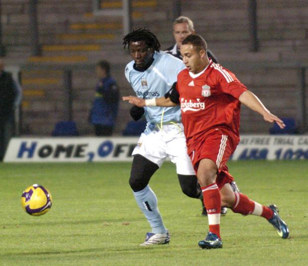 Nabil El Zhar in action at the Halliwell Jones Stadium against Manchester City Reserves last season.