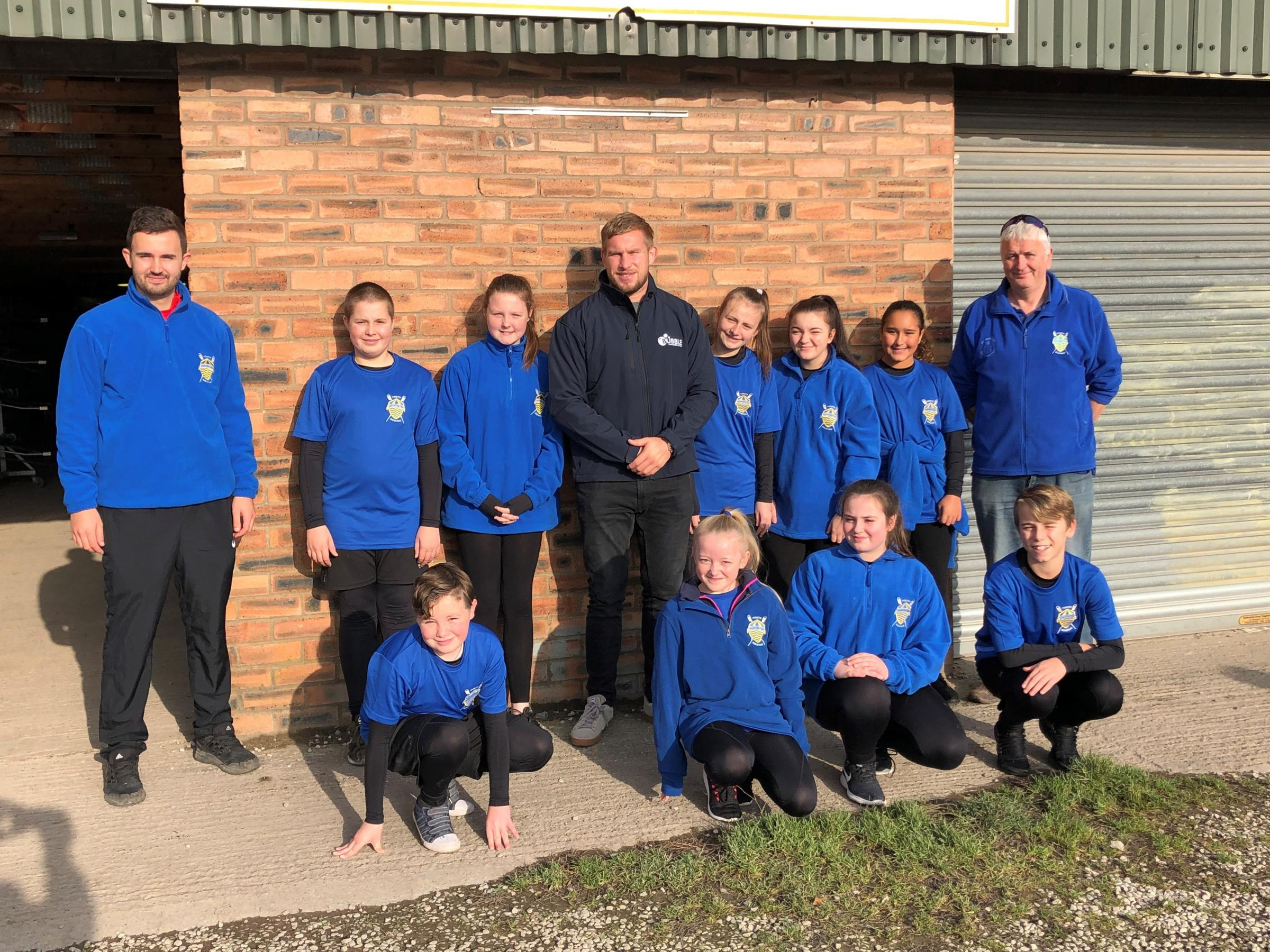 Mike Cooper paid a visit to Warrington Youth Rowing