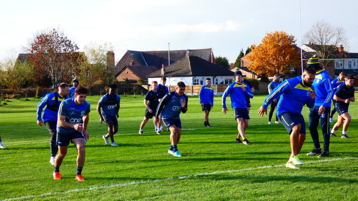 The Wire players are put through their paces on the first day of pre-season. Picture by Warrington Wolves